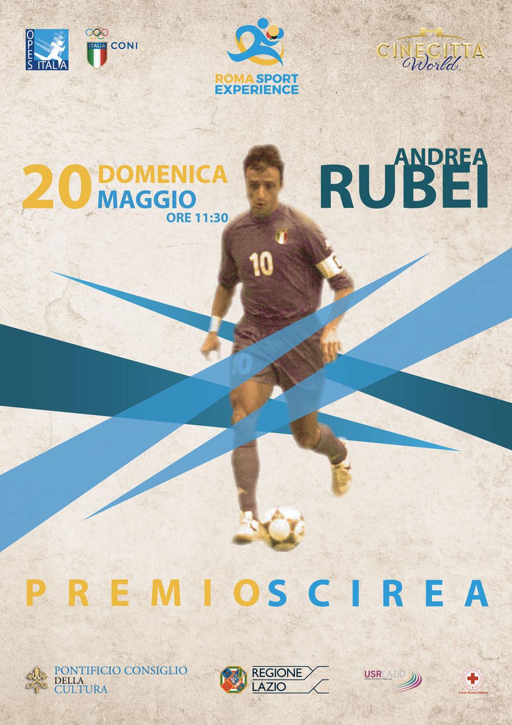 """Roma Sport Experience 2018: """"Premio Scirea"""" ad Andrea Rubei, la leggenda del futsal"""