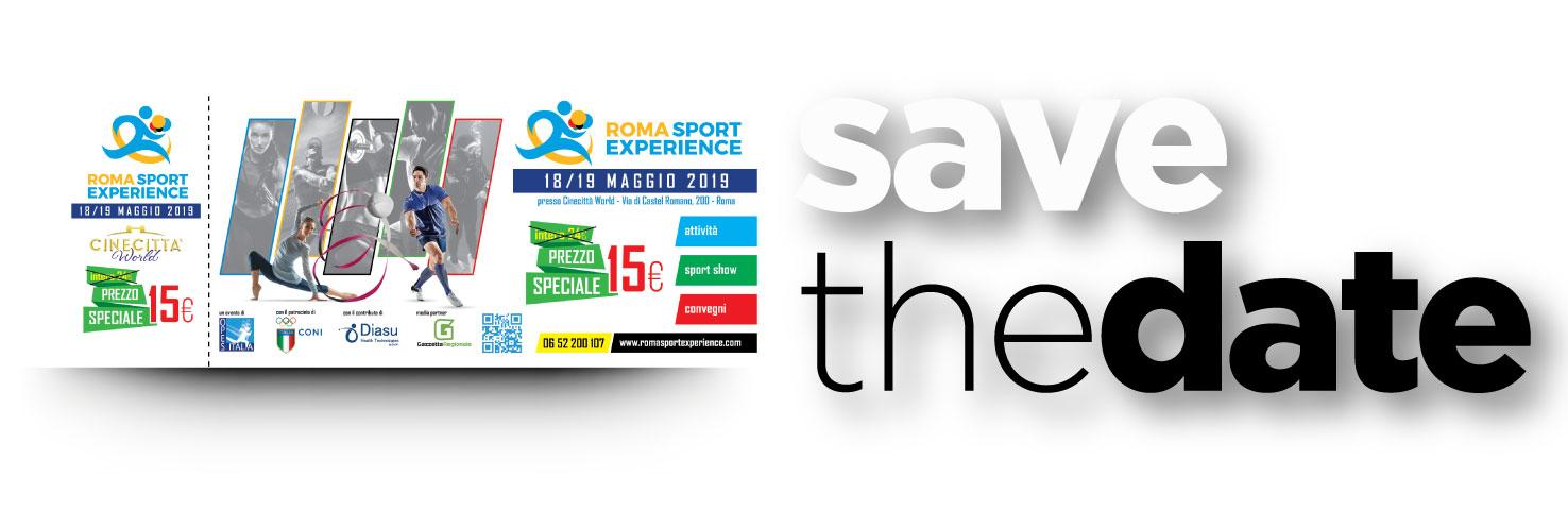 Save the date: la terza edizione di Roma Sport Experience si terrà i prossimi 18 e 19 maggio