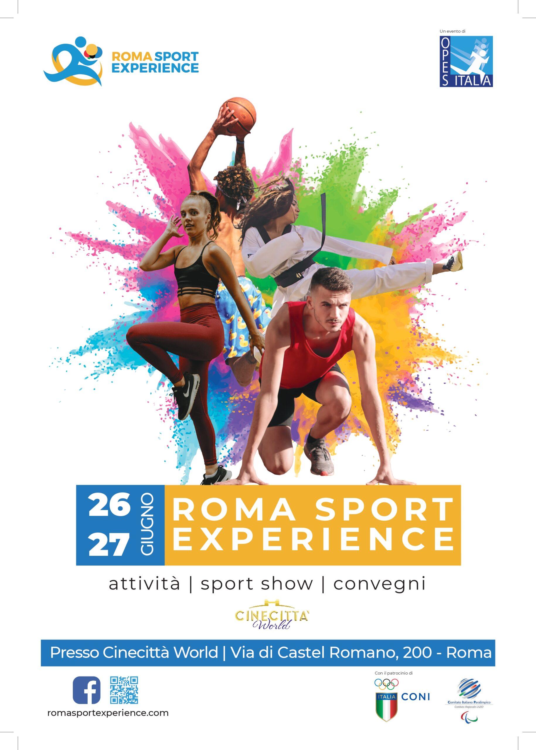 Svelata la nuova veste grafica della IV edizione di Roma Sport Experience